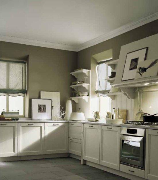 Home Cucine Componibili : Cucina classica color lino e creta