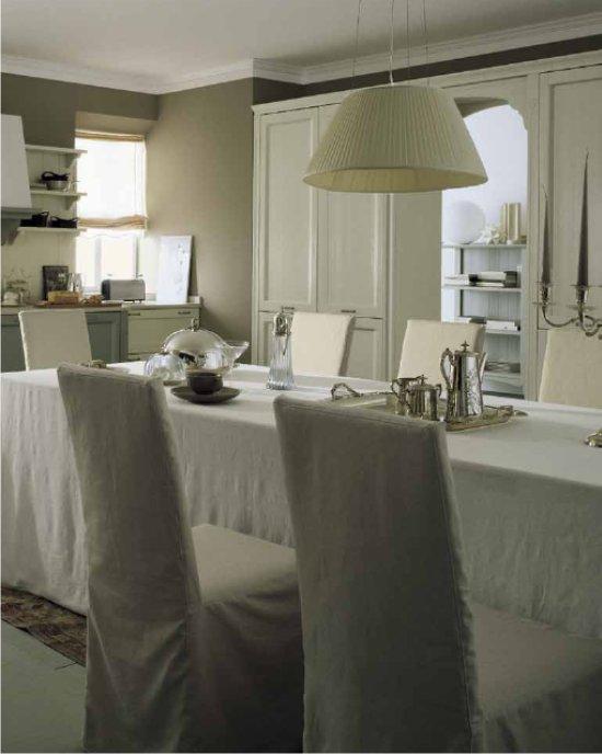 Cucina classica color lino e creta for Soggiorno creta