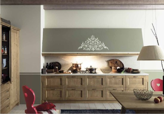 Cucine in stile rustico tabi di scandola mobili - Cappe per cucine in muratura ...