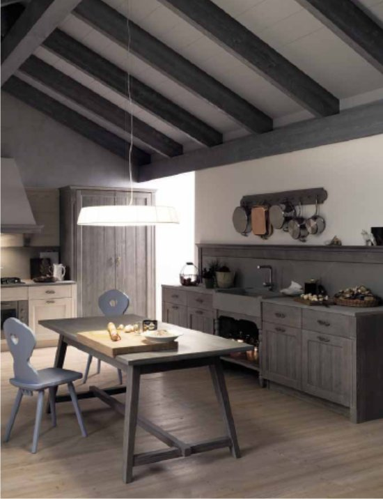 Finiture e materiali dei mobili per cucina in foto : boiserie e basi ...