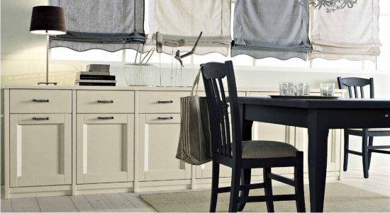 Soggiorno in stile classico scandola nuovo mondo for Tavolo con sedie per soggiorno