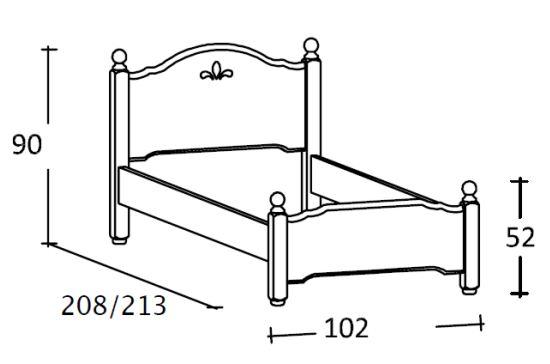 misure del letto erika scandola