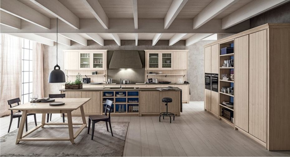 Cucine classiche in legno massello Scandola in outlet