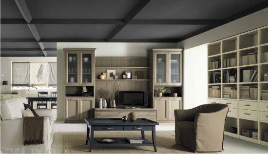 Soggiorno in stile classico scandola nuovo mondo for Arredamento tinello soggiorno