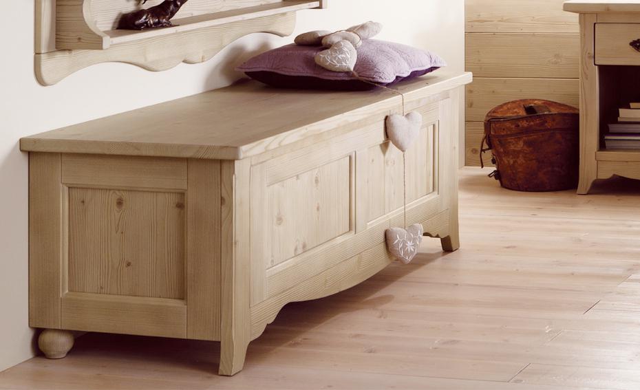 Cassapanca in vero legno arredamento country online for Cassapanche piccole legno