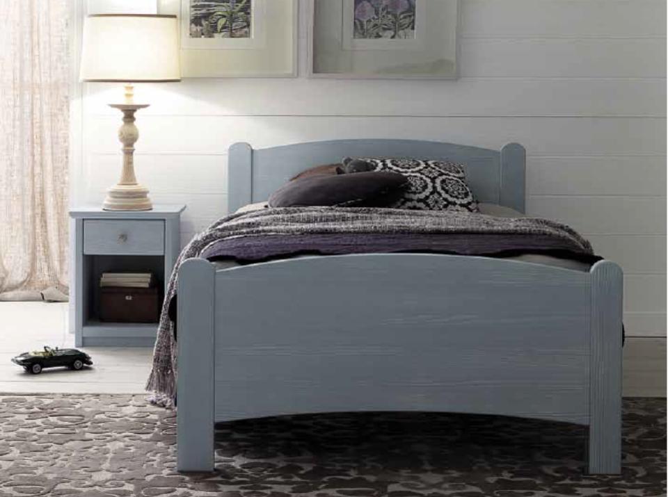 Luna letto in abete da una piazza e mezza in vendita online for Ikea letto 1 piazza e mezza