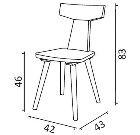 sedia in legno Ala