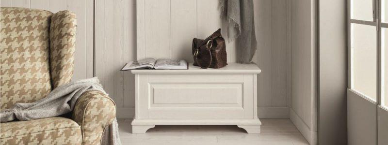 Mobili da ingresso arredamento in legno for Cassapanca online