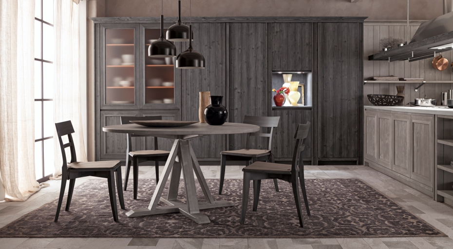 Tavolo rotondo maestrale | Mobili in vero legno