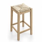 Sgabello in paglia e legno Paesana
