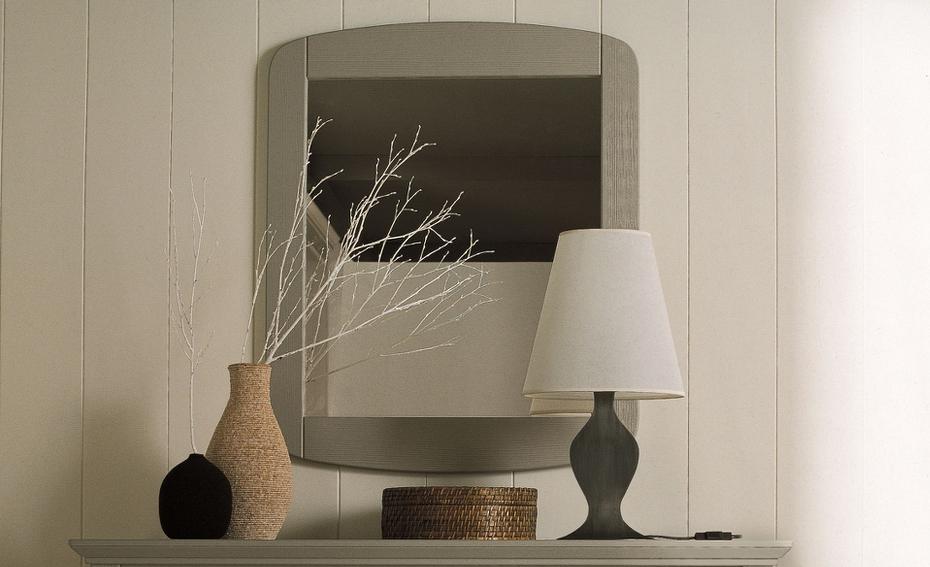 specchio in legno artigianale