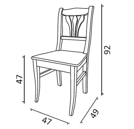 sedia Tabià lavorata