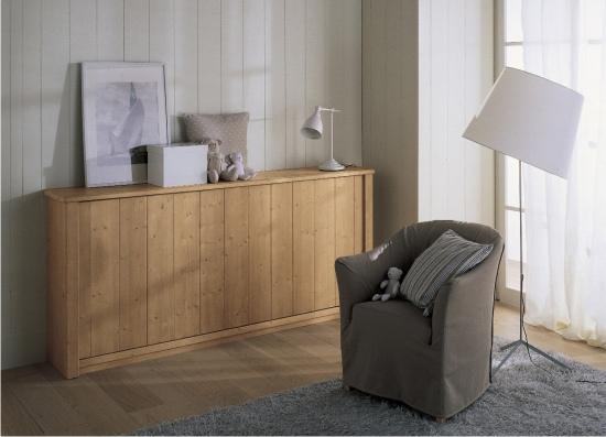 Letto singolo a scomparsa massello in vendita online - Ikea bari camerette ...