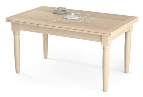 Tavolo allungabile con gambe tornite