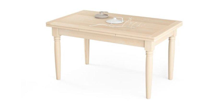 Tavolo allungabile con gambe tornite in legno massello
