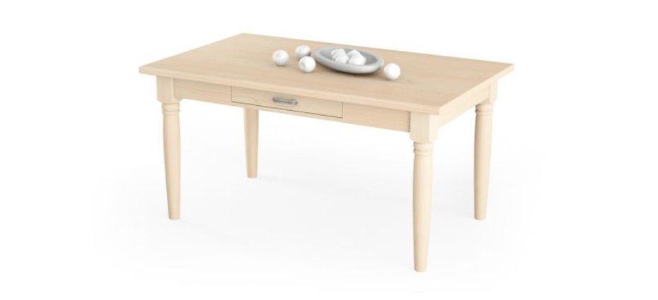 tavolo in massello con cassetto