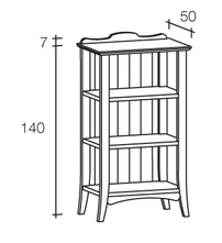 etagere a tre ripiani in legno scandola mobili
