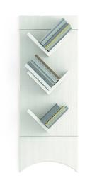 Libreria pensile a tre mensole in legno
