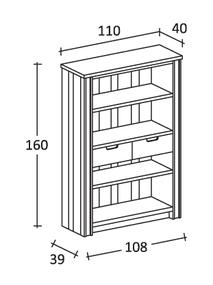 dispensa aperta in legno massello di alta falegnameria di colore bianco