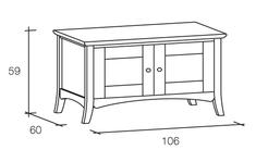 Mobili porta TV con 2 ante in legno massello