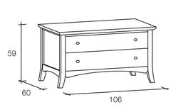 mobili porta TV in legno massello scandola mobili con 2 cassetti