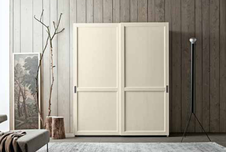 Armadio a due ante scorrevoli in legno for Armadio shabby ikea
