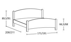 letto semplice in legno Luna