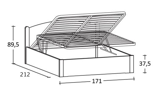 letto Luna in legno scandola mobili