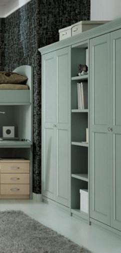 armadio a giorno in legno massello