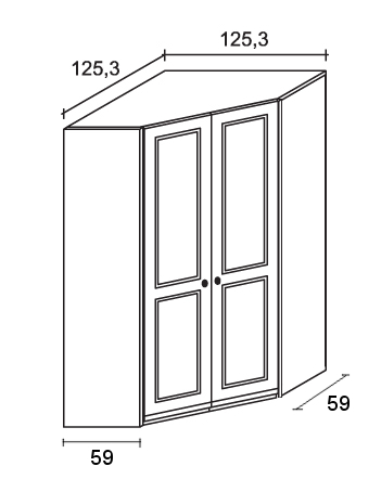 Cabina armadio ad angolo in legno Scandola Mobili